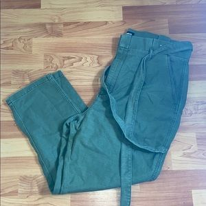 High waisted Green Pants